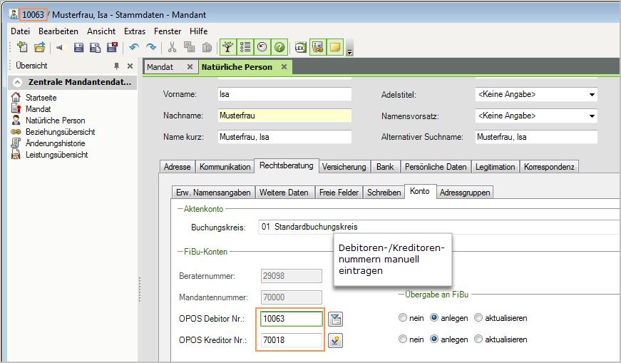 Dokument 1002009 - Mandanten und Akten in Anwalt ... - LEXinform/Info-DB