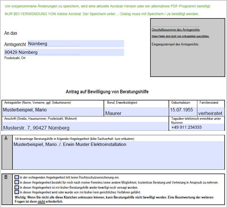 Dokument 1002214 - Beratungshilfe-Abrechnung in A... - LEXinform/Info-DB