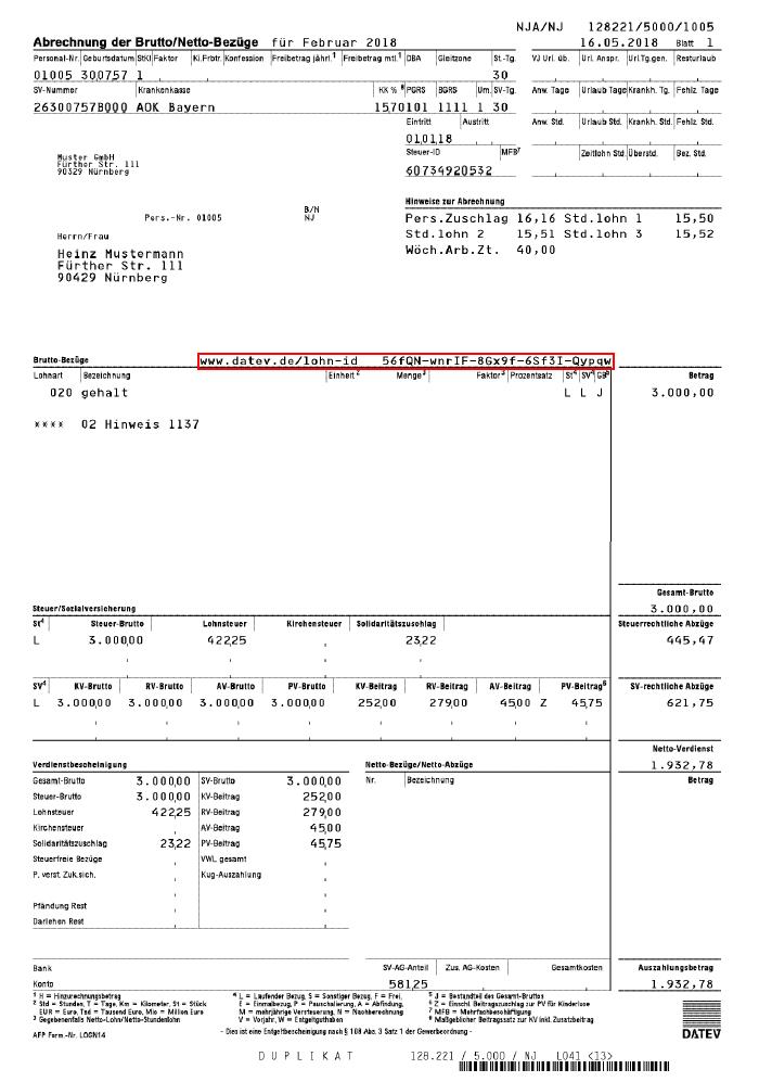 Lohnabrechnung Gehaltsabrechnung Das Wichtigste Erklart 4